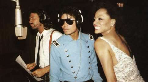 Barry Gibb, Michael Jackson, and Diana Ross