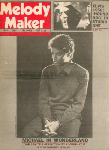 March 1980 ~ Michael is on the cover of Melody Maker with an exclusive interview.