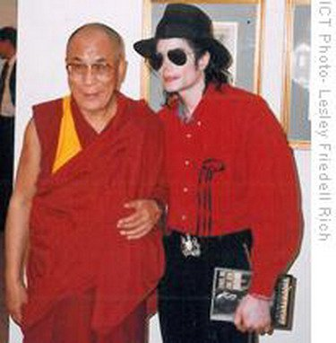 """""""It is our collective and individual responsibility to protect and nurture the global family, to support its weaker members and to preserve and tend to the environment in which we all live."""" Dalai Lama   The photo was taken in New York on August 15, 1999. Ten years later the Dalai Lama granted an interview to German jounalists while in Germany. Asked about Michael he said: """"I met Michael Jackson 2 or 3 times and I liked and admired him because he really knew how to entertain people."""""""