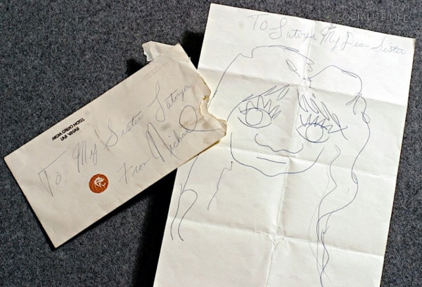 In the late 1970's, MJ drew this picture of his sister La Toya as a prank