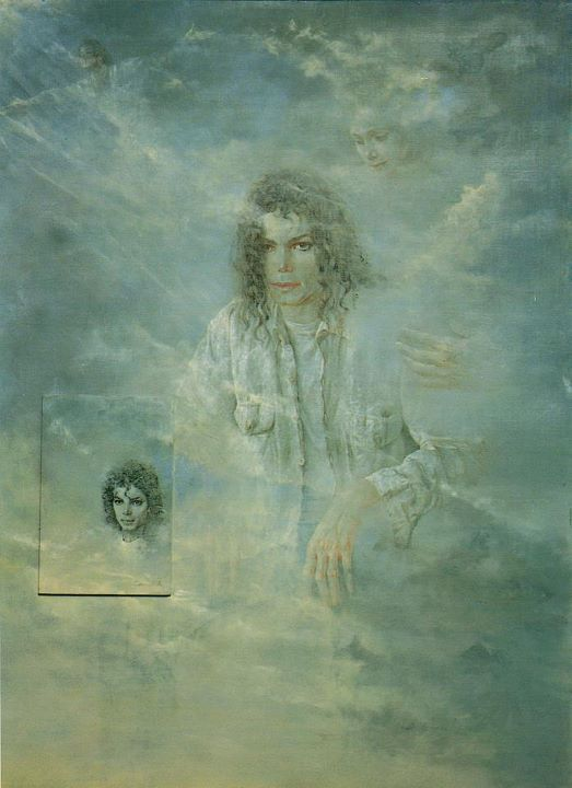 Nati's portrait of Michael, with the spirit