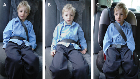 Image result for Images of seat belt misuse