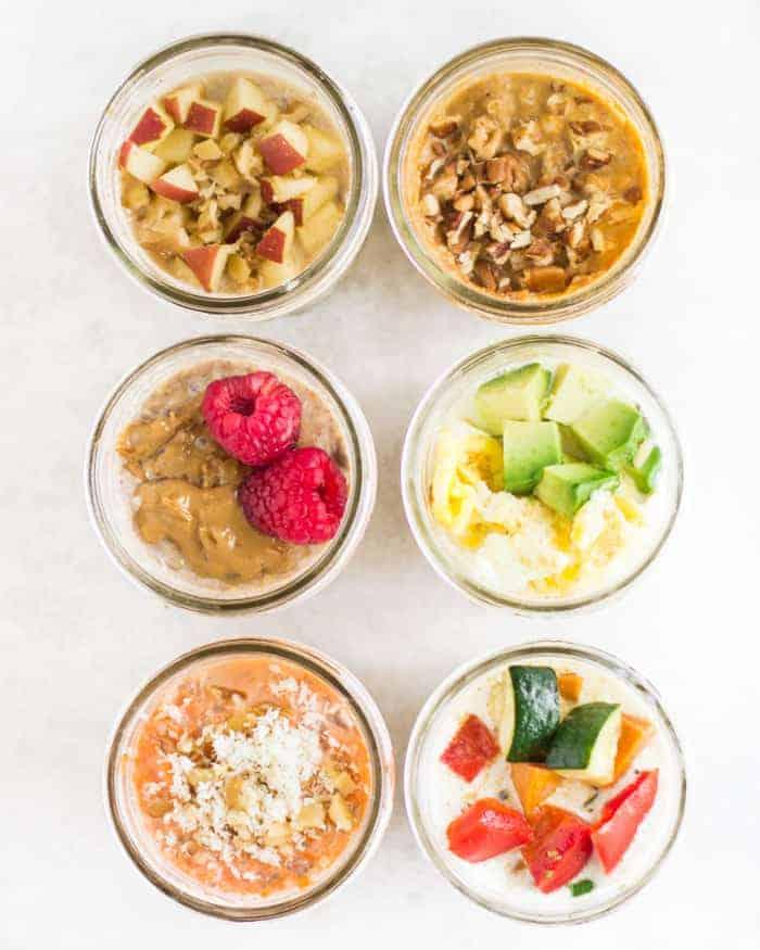 overnight oats and quinoa