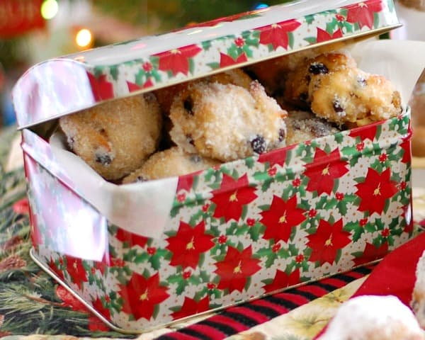 Delight your family and friends with delicious bite-size German Christmas stollen, a traditional holiday treat in a non-traditional shape that's easy to make. | mjbakesalot.com