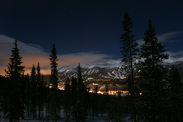 Breckenridge Moonlit Night
