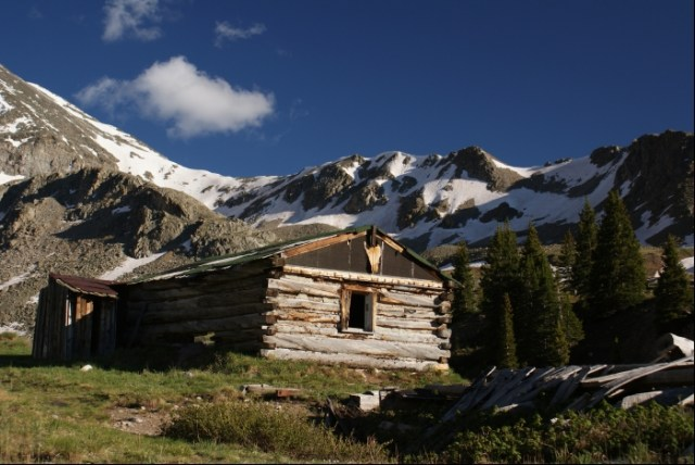 Old Cabin in Rocky Mountains
