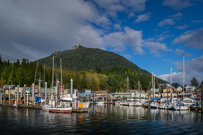 Pulling into Ketchikan Harbor