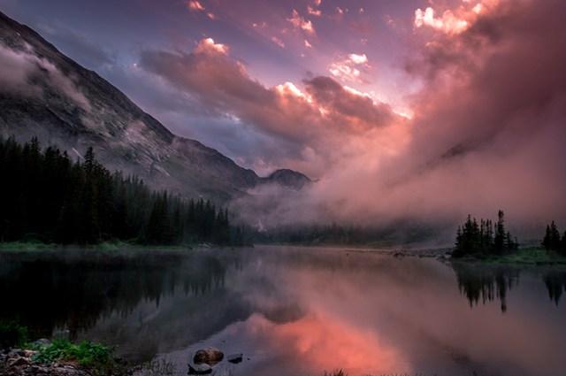 Blue Lakes Summer Sunset