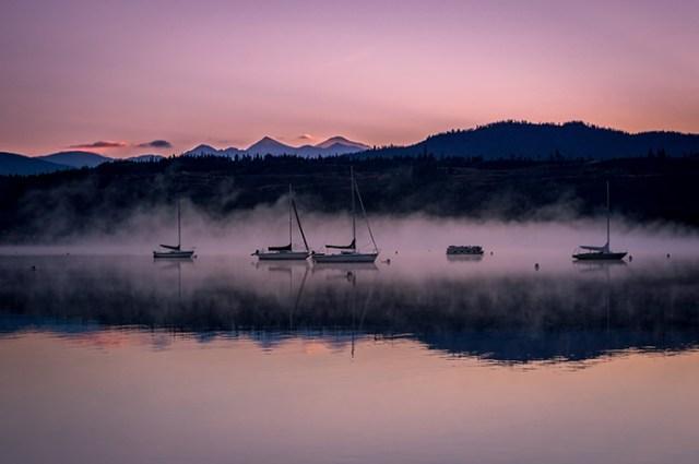 Frisco Marina Early Morning Fog