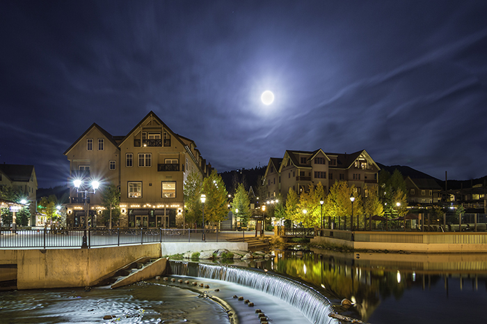 Full Moon Over Village