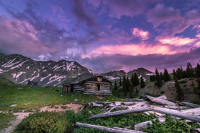 Mayflower Cabin Sunset
