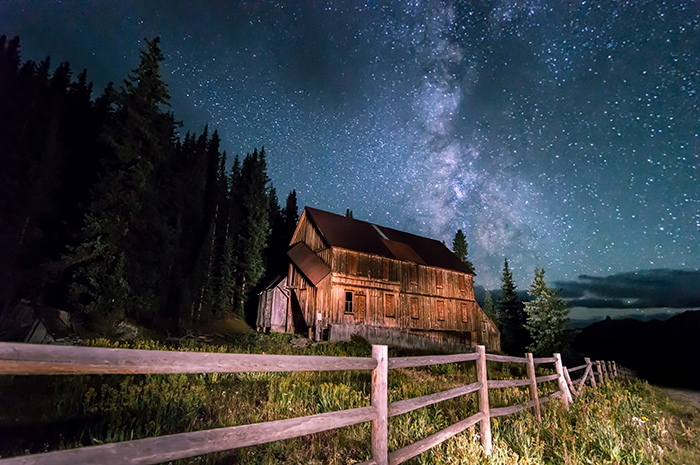 Old Mining Camp Under Milky Way