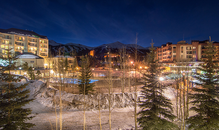 Breckenridge Village Winter Evening
