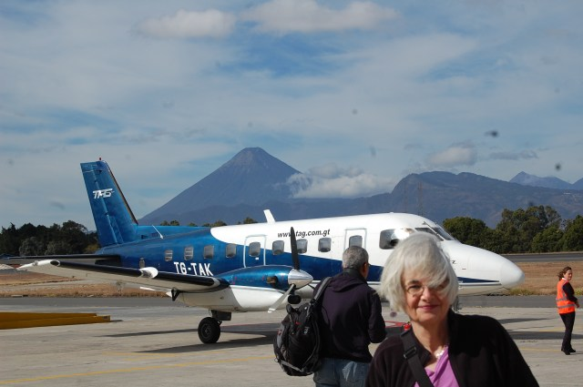 Our personal prop-jet from Guatemala City to Flores and the Maya