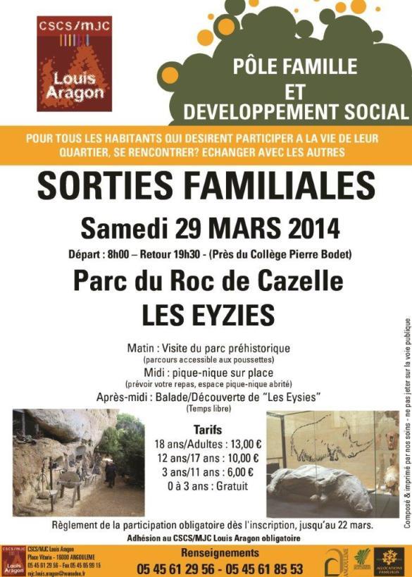 sORTIE FAMILLE 2014 MARS 2014