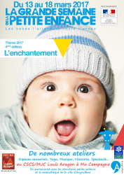 Lundi 13 au samedi 18 mars : Grande semaine de la petite enfance (0-3 ans)