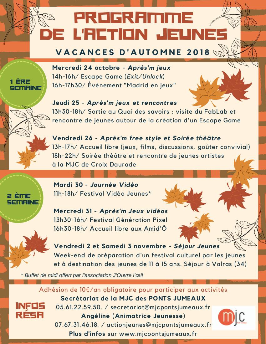 vacances automne 2018 Vacances du0027automne 2018