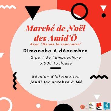 Marché de Noël – Réunion d'informations le jeudi 1er octobre à 14h00