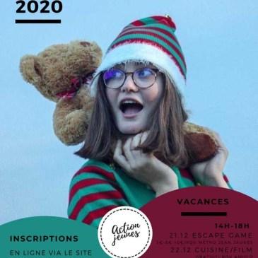 Action Jeunes – Vacances Décembre