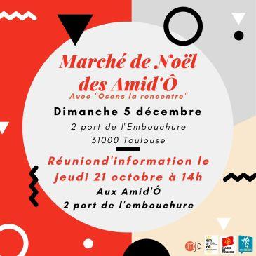 Marché de Noël de la MJC – Réunion d'info' Jeudi 21 octobre