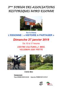 3ème forum des associations historiques du Nord Essonne @ Centre Culturel Jacques Brel