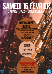 Cabaret Jazz // David Sauzay Quintet @ MJC BOBY LAPOINTE