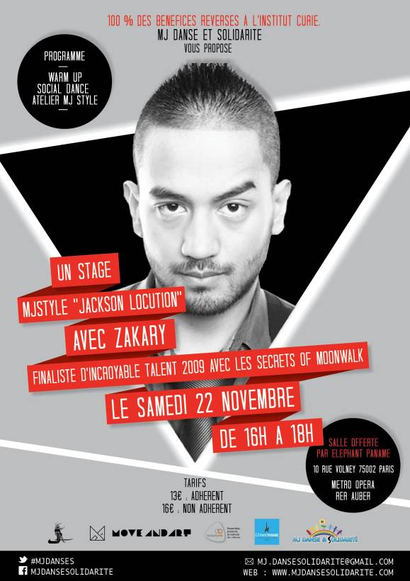 STAGE MJ STYLE BY ZAKARY POUR L'INSTITUT CURIE
