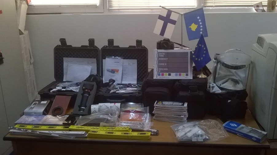 New equipment for DFM with EU. Forensis Crime Scene supply