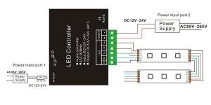 12V 24V 4A*4CH RGBW Music Controller with RF 24 key Remote | mjjcled