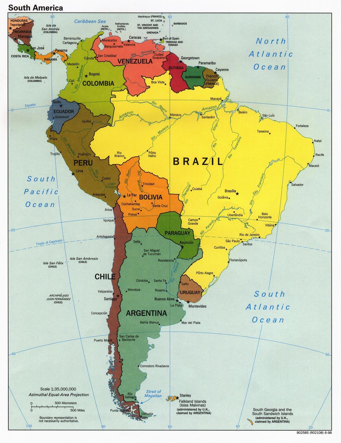 南美洲地圖 South America Maps - 南美洲地圖 South Amercia Map - 美景旅遊網