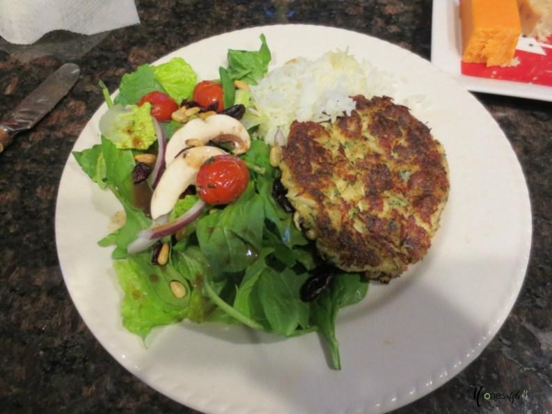#crab cakes #appetizer #salad
