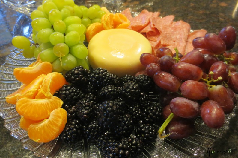 #fruit and cheese tray