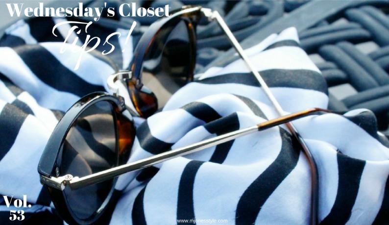 #wednesdaysclosettips #mjonesstyle zebraprintscarf