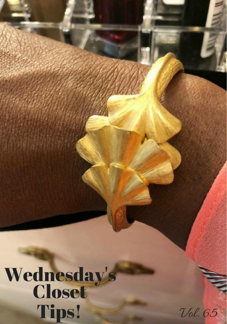 #wednesdaysclosettips #mjonesstyle #goldvintagebracelet