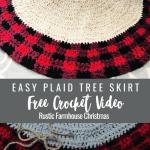 Crochet Buffalo Plaid Tree Skirt Pillow Cover Mj S Off The Hook Designs
