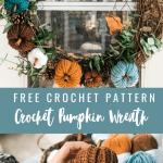 Crochet Fall Wreath Free Pattern Mj S Off The Hook Designs