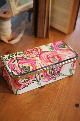 オシャレな花柄のがま口ボックス