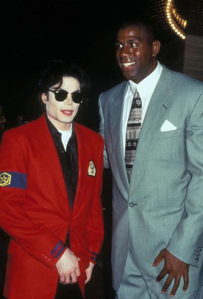 1995 File Photo of Michael Jackson and Magic Johnson