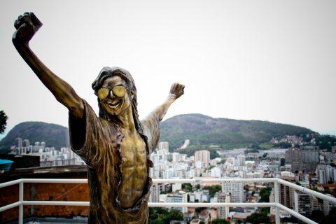 MJ's statue in Santa Marta