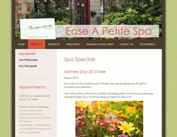 Website Restyle: Ease A Petite Spa