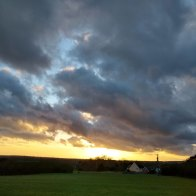 Sunset over Bancroft field