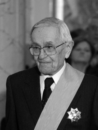 Jan Ekier podczas uroczystości wręczenia Orderu Orła Białego w 2010 r. Fot. Danuta Matloch