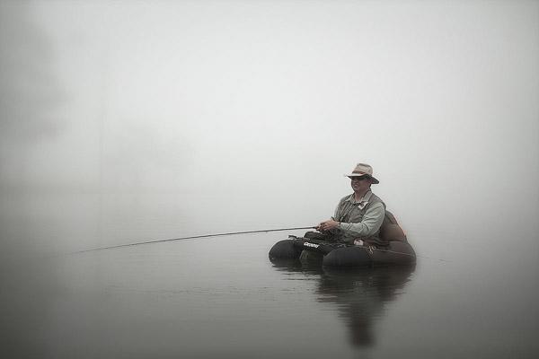 Kevin Booth Float Tube in the Mist