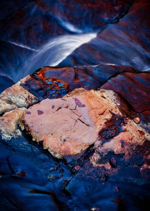 Emma Kelly - 'Water Over Rocks' - (65cm x 42cm)
