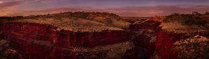 Mark Kelly - 'Red Rock Karijini NP' - (98cm x 298cm)