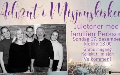 Juletoner med familien Persson
