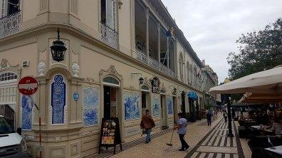 Centre-ville de Funchal et des azulejos