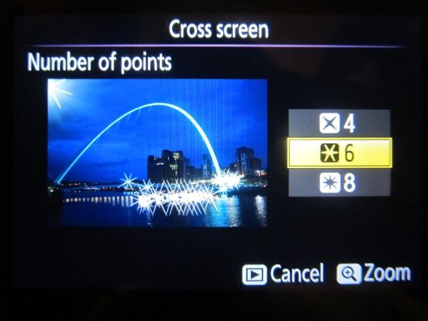 Nikon D5300 cross screen and number of points 2