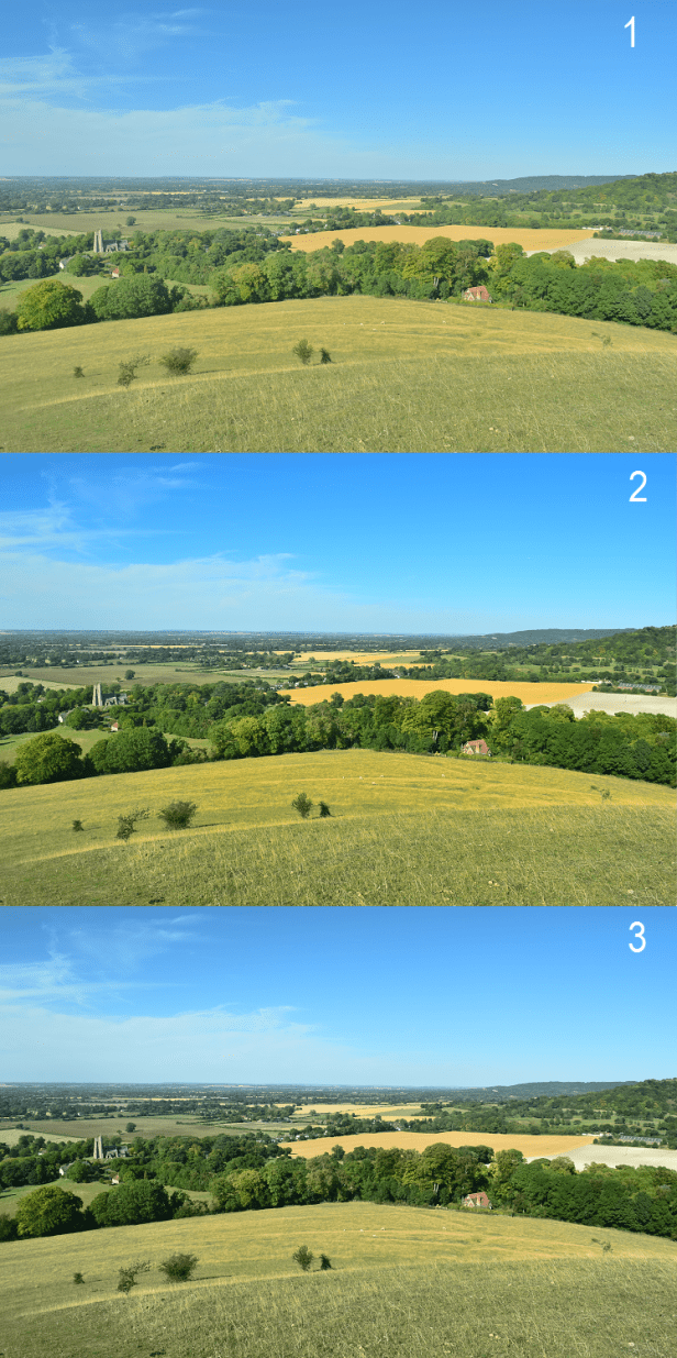 Nikon D5300 picture control photo example after quick contrast adjustments, Chiltern Hill in UK