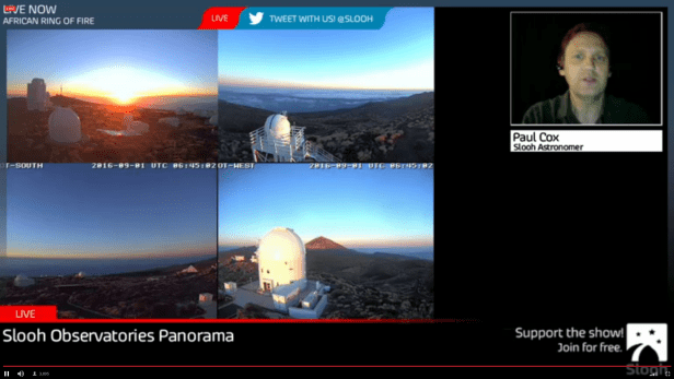 partial solar eclipse 2016 live stream from Teide observatory